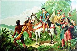 Expedición de Colón a las montañas de oro